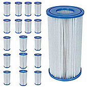"Bestway Filter Cartridge III (4.2"" x 8"") 18x Pack"