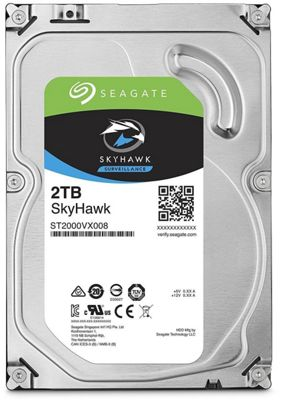 Seagate SkyHawk 2TB 64MB 3.5IN SATA 6GB/s Surveillance HDD