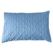 Homescapes Ultrasonic Blue Quilted Embossed Filled Cushion, 50 x 75 cm