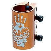 Slamm Quad Collar Clamp - Anodised Orange