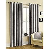 Ribeiro Chenille Eyelet Curtains, Silver 168x270cm