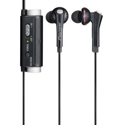 Pioneer SE-NC31C Fully Enclosed Dynamic Inner-Ear Black Noise-Cancelling Headphones