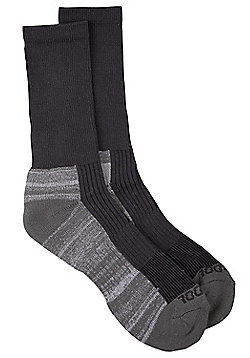 Mountain Warehouse Socks Isocool Fabric with Cotton Blend and Durable Build - Grey