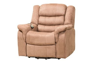 Sofa Collection Limoux Riser Recliner with Massage and Heat Function - Light Brown