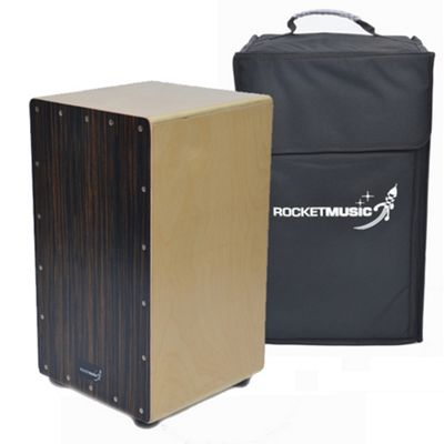 Rocket Ebony Stripe Cajon with Bag