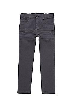 F&F Twill Skinny Fit Trousers - Grey