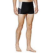 F&F Contrast Panel Hipster Swim Shorts - Black