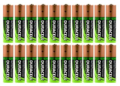 20 x Duracell AA HR06 2450mAh Capacity Duralock NiMH AA Rechargeable Batteries