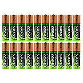 20 x Duracell AA HR06 2450mAh Capacity Duralock NiMH AA Rechargeable Batteries