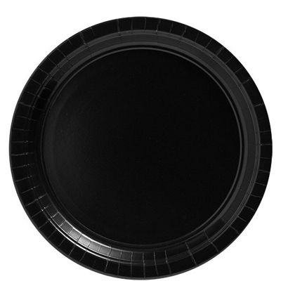 Black Paper Plates - 20 Pack