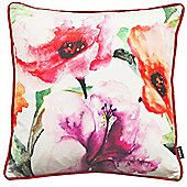 Rocco Flora Red Cushion Cover - 43x43cm