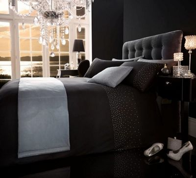 sparkle king black bed in a bag 5 piece duvet cover pillow case cushion cover and