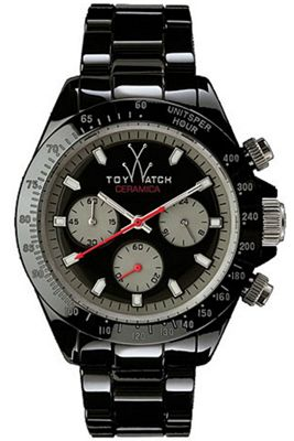 ToyWatch Gents Black Ceramic Bracelet Watch CM04BK