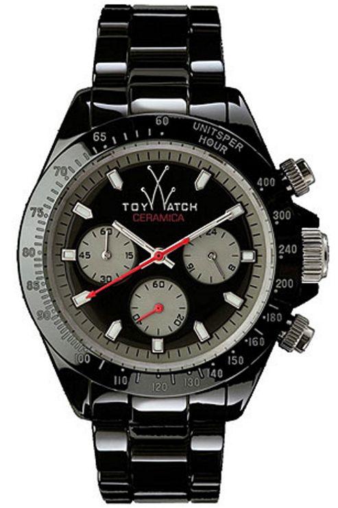 ToyWatch Gents Black Ceramic Bracelet Watch CM04BK