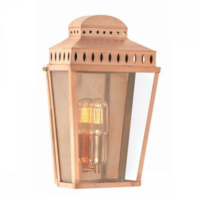 Polished Copper Wall Lantern Copper - 1 x 100W E27