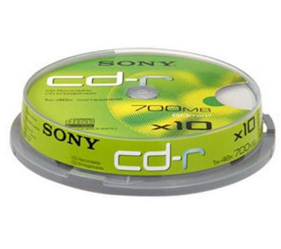 Sony CD-R 80min 700MB 48X 10 Pack