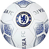 Chelsea FC Prism Official Supporter Football Soccer Ball White - Size 5