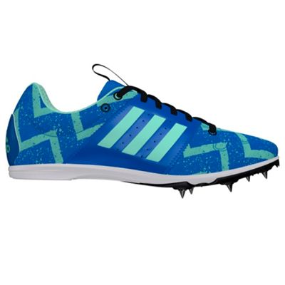 adidas Allroundstar Kids Running Spike Trainer Shoe Blue - UK 2.5