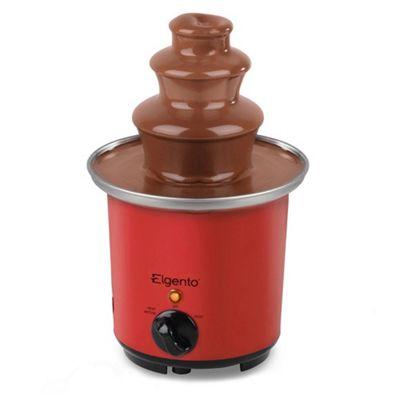 Elgento Mini Chocolate Fountain, Red