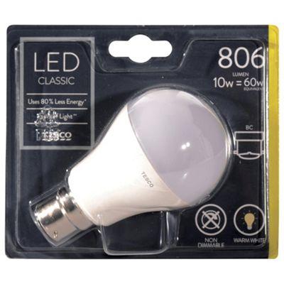 Bathroom Lights Tesco buy tesco led star classic 60w b22 bayonet cap light bulb from our