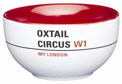 KitchenCraft My London Soup / Snack Bowl - 'Oxtail Circus' (Set of 4)