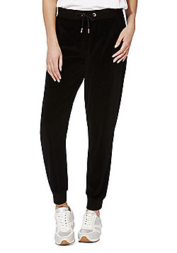 F&F Velour Joggers - Black