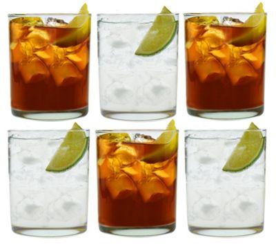 Argon Tableware Tumbler Water / Whisky Glasses - Gift Box of 6 - 280ml - 10oz