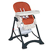 Homcom Highchair Baby Toddler Foldable Feeding Compact Safety Belt - Orange