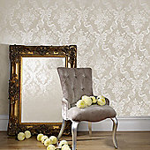 Graham & Brown Julien MacDonald Glimmerous Damask Wallpaper - Taupe