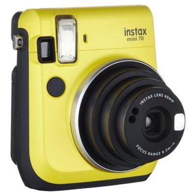 Instax Mini 70 Instant Camera, Yellow