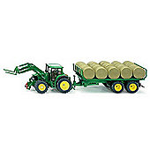 John Deere with Front Loader and Bale Trailer