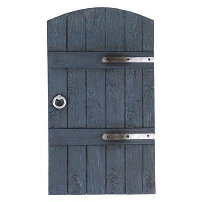 Grey Wood Effect Polyresin Garden Fairy Door Gate