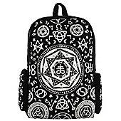Banned Pentagram Black Backpack 28x42x12cm
