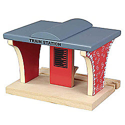 Train Station For Wooden Railway Train Set 50935 - Brio Bigjigs Compatible