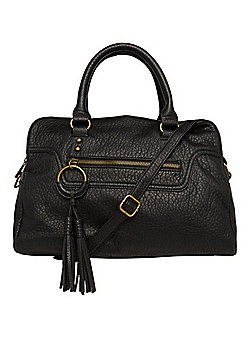 F&F Grained Faux Leather Bowling Bag Black One Size