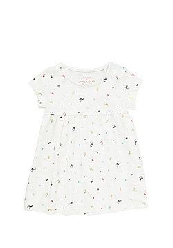 F&F Zebra Leaf Print Smock Dress - Cream Multi