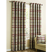 Loch - Red - Eyelet Curtains - Red