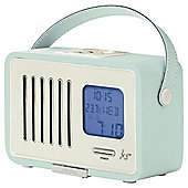 Kitsound Swing Portable Digital FM Radio with LCD Screen and Alarm Clock - Blue