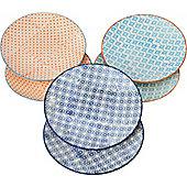 Nicola Spring Patterned Side / Dessert Plates - 180mm - 3 Designs - Box Of 6
