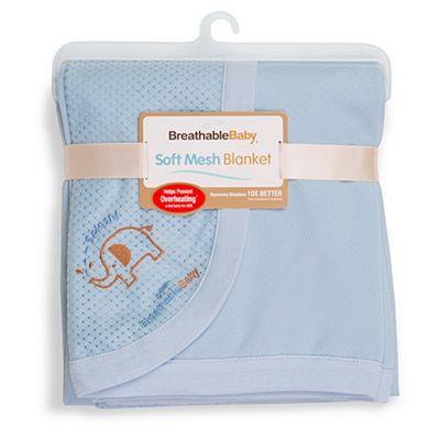 BreathableBaby Soft Mesh Blanket Blue