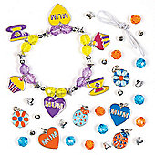 Mother's Day Charm Bracelet Kits for Children to Make - Creative Craft Jewellery Making Gift Set for Kids (Pack of 3)