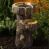 Tree Trunk Birdbath Solar Water Feature