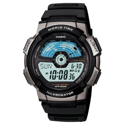 Casio Mens 100M W/R World Time Combi Watch