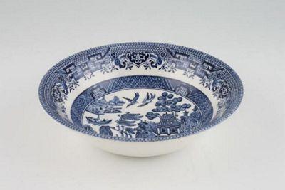 Churchill Blue Willow Oatmeal Bowl, 15.5cm