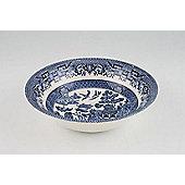 Churchill China Blue Willow Set of 6 Small Oatmeal Bowls WBMBOB