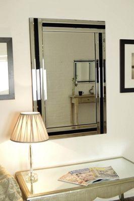 Large Venetian Modern Wall Mounted Frameless Rectangle Mirror 3Ft11 X 2Ft7