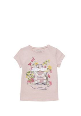 F&F Perfume Bottle Applique T-Shirt Pink 5-6 years