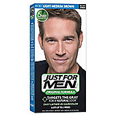 Just For Men Shampoo In Permanent Hair Colour Dye LIGHT MEDIUM BROWN H30