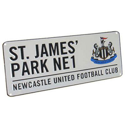 Newcastle United FC St James Park Street Sign