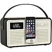 VQ Retro Radio MKII DAB+ and Bluetooth, black